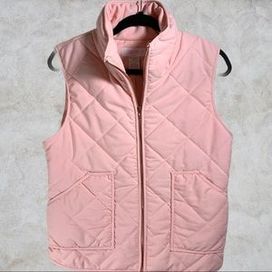 Peach Love California Quilted Full Zip Vest Size L